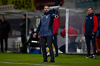 19th December 2020; Dens Park, Dundee, Scotland; Scottish Championship Football, Dundee FC versus Dunfermline; Dundee manager James McPake points the way
