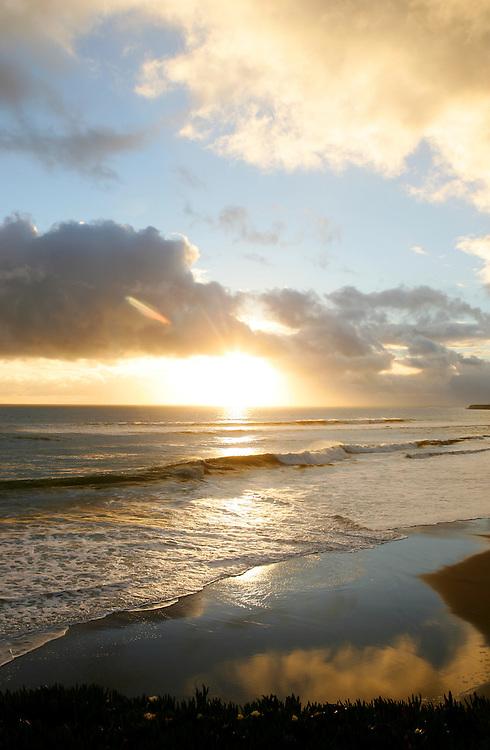 January 20, 2008; Santa Cruz, CA, USA; Lighthouse State Beach at sunset in Santa Cruz, CA. Photo by: Phillip Carter