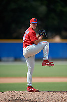 Philadelphia Phillies pitcher Samuel Aldegheri (74) during an Instructional League game against the Toronto Blue Jays on September 27, 2019 at Englebert Complex in Dunedin, Florida.  (Mike Janes/Four Seam Images)