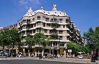 Spanien, Katalonien, Barcelona, Casa Mila = La Pedrera von Antoni Gaudii, Passeig de Gracia , Unesco-Weltkulturerbe