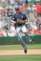 Hughes, Luke 7976.jpg. Minnesota Twins at Philadelphia Phillies. Spring Training Game. Saturday March 21st, 2009 in Clearwater, Florida. Photo by Andrew Woolley.