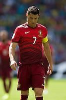 Cristiano Ronaldo of Portugal looks dejected