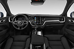 Stock photo of straight dashboard view of 2020 Volvo XC60 Inscription-T8-eAWD-Plug-in-Hybrid 5 Door SUV Dashboard
