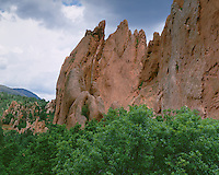 Cliff formations at Garden of the Gods; Colorado Springs, CO