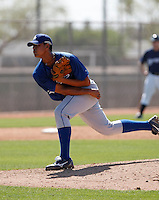 Marcel Prado  - Los Angeles Dodgers - 2009 spring training.Photo by:  Bill Mitchell/Four Seam Images
