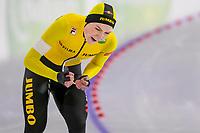 28th December 2020; Thialf Ice Stadium, Heerenveen, Netherlands; World Championship Speed Skating;  3000m ladies, Joy Beune during the WKKT