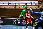 11Mats Korte beim Spiel in der Handball Bundesliga, TSV GWD Minden - HSG Nordhorn-Lingen.<br /> <br /> Foto © PIX-Sportfotos *** Foto ist honorarpflichtig! *** Auf Anfrage in hoeherer Qualitaet/Aufloesung. Belegexemplar erbeten. Veroeffentlichung ausschliesslich fuer journalistisch-publizistische Zwecke. For editorial use only.