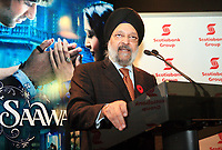 "Toronto, November 8, 2007, Scotiabank Vice-Chairman and Chief Administrative Officer Sabi Marwah addresses a reception in advance of a sneak-preview of Bollywood's latest release ""Saawariya"" shown at Scotiabank Theatre. (CNW Group/Scotiabank)"