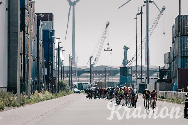 race start in the Antwerp Harbour <br /> <br /> 92nd Schaal Sels 2017 <br /> 1 Day Race: Merksem > Merksem (188km)