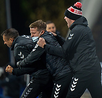 3rd November 2020, The John Smiths Stadium, Huddersfield, Yorkshire, England; English Football League Championship Football, Huddersfield Town versus Bristol City; Bristol City backroom staff emotion as their second goal goes in on min 83 from Jamie Paterson