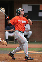 Chris Petralli of the Miami Hurricanes vs. the Virginia Cavaliers: March 24th, 2007 at Davenport Field in Charlottesville, VA.  Photo by:  Mike Janes/Four Seam Images