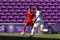 Orlando, Florida - Wednesday January 17, 2018: Xavier Gomez. Match Day 3 of the 2018 adidas MLS Player Combine was held Orlando City Stadium.