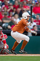 Texas Longhorns outfielder Mark Payton #2 follows through on his swing during the NCAA baseball game against the Houston Cougars on March 1, 2014 during the Houston College Classic at Minute Maid Park in Houston, Texas. The Longhorns defeated the Cougars 3-2. (Andrew Woolley/Four Seam Images)