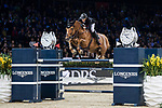 Kevin Staut of France riding Silver Deux de Virton HDC competes in the Longines Grand Prix during the Longines Masters of Hong Kong at AsiaWorld-Expo on 11 February 2018, in Hong Kong, Hong Kong. Photo by Diego Gonzalez / Power Sport Images