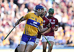 David Fitzgerald of Clare celebrates a point  during their All-Ireland semi-final against Galway at Croke Park. Photograph by John Kelly.