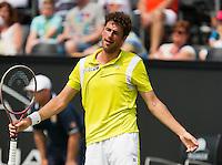 19-06-13, Netherlands, Rosmalen,  Autotron, Tennis, Topshelf Open 2013, , Robin Haase is frustrated<br /> Photo: Henk Koster