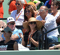 KEY BISCAYNE, FL - APRIL 05: Kim Sears watches Novak Djokovic of Serbia defeat Andy Murray of Great Britain in the mens final during the Miami Open at Crandon Park Tennis Center on April 5, 2015 in Key Biscayne, Florida.<br /> <br /> <br /> People:  Kim Sears<br /> <br /> Transmission Ref:  FLXX<br /> <br /> Must call if interested<br /> Michael Storms<br /> Storms Media Group Inc.<br /> 305-632-3400 - Cell<br /> 305-513-5783 - Fax<br /> MikeStorm@aol.com