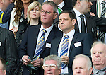Celtic v St Johnstone....01.04.12   SPL.St Johnstone Chairman Steve Brown and director Stan Harris.Picture by Graeme Hart..Copyright Perthshire Picture Agency.Tel: 01738 623350  Mobile: 07990 594431
