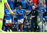 05.05.2019 Rangers v Hibs: Alfredo Morelos on for Jermain Defoe