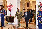 Egyptian President Abdel-Fattah al-Sisi meets with the Head of the Sudanese Transitional Military Council Abdul Fattah Barhan in the Federal Palace, in Cairo, Egypt, on May 25, 2019. Photo by Egyptian President Office