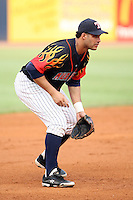 June 12th 2008:  Erik Almonte of the Toledo Mudhens, Class-AAA affiliate of the Detroit Tigers, during a game at Fifth Third Field in Toledo, OH.  Photo by:  Mike Janes/Four Seam Images