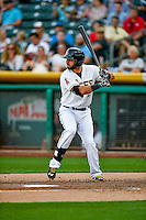 Kaleb Cowart (22) of the Salt Lake Bees at bat against the Round Rock Express in Pacific Coast League action at Smith's Ballpark on August 13, 2016 in Salt Lake City, Utah. Round Rock defeated Salt Lake 7-3.  (Stephen Smith/Four Seam Images)