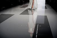 Una modella presenta una creazione della collezione Autunno/Inverno 2013-2014 dello stilista libanese Tony Ward durante la rassegna Altaroma a Roma, 9 Luglio 2013.<br /> A model wears a creation of Lebanese fashion designer Tony Ward Fall/Winter 2013/2014 during the Altaroma fashion week in Rome, 9 July 2013.<br /> UPDATE IMAGES PRESS/Virginia Farneti