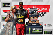 #78: Martin Truex Jr., Furniture Row Racing, Toyota Camry 5-hour ENERGY/Bass Pro Shops and team celebrate in victory lane, Sherry Pollex