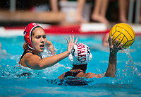 STANFORD, CA - March 23, 2019: Kayla Constandse at Avery Aquatic Center. The #2 Stanford Cardinal took down the #18 Harvard Crimson 20-7.