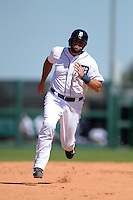 Detroit Tigers catcher Alex Avila (13) during a spring training game against the St. Louis Cardinals on March 3, 2014 at Joker Marchant Stadium in Lakeland, Florida.  Detroit defeated St. Louis 8-5.  (Mike Janes/Four Seam Images)