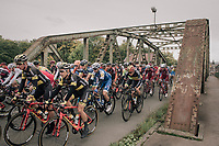 neutralised section before the real start<br /> <br /> 77th Euro Metropole Tour 2017<br /> La Louvière > Tournai (BEL): 188.6 km