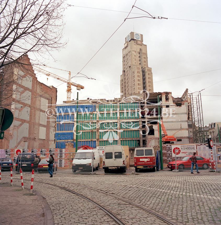 Maart 1992. Groenplaats in Antwerpen.