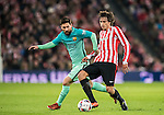 Lionel Andres Messi of FC Barcelona battles for the ball with Ander Iturraspe Derteano of Athletic Club during their Copa del Rey Round of 16 first leg match between Athletic Club and FC Barcelona at San Mames Stadium on 05 January 2017 in Bilbao, Spain. Photo by Victor Fraile / Power Sport Images