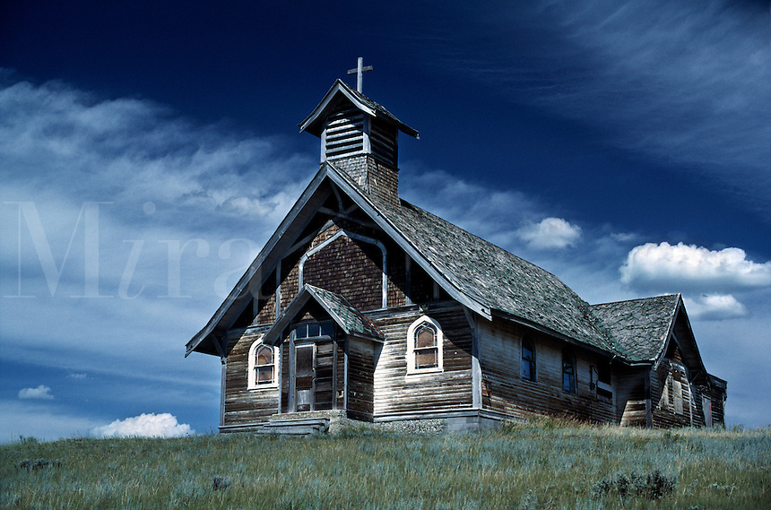 Weathered country church.