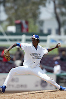 May 30 2007: Marlon Arias of the Inland Empire 66'ers pitches against the Rancho Cucamonga Quakes at Arrowhead Credit Union Park in San Bernardino,CA.  Photo by Larry Goren/Four Seam Images