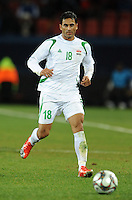 Mahdi Kareem of Iraq of Iraq. Iraq and New Zealand tied 0-0 during the FIFA Confederations Cup at Ellis Park Stadium in Johannesburg, South Africa on June 20, 2009..