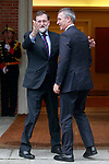 The President of the Government of Spain, Mariano Rajoy (l), receives the Secretary General of NATO Jens Stoltenberg at the Moncloa Palace. January 25,2018. (ALTERPHOTOS/Acero)