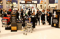 Photo: Richard Lane/Richard Lane Photography. London Wasps depart for Abu Dhabi for their LV= Cup game against Harlequins on 30st January 2011. 25/01/2011. London Wasps arrive at Abu Dhabi.