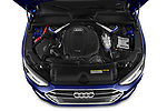 Car Stock 2020 Audi A4-Sedan Premium 4 Door Sedan Engine  high angle detail view