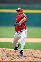 Columbus Clippers pitcher Carlos Marmol (49) delivers a pitch during a game against the Buffalo Bisons on July 19, 2015 at Coca-Cola Field in Buffalo, New York.  Buffalo defeated Columbus 4-3 in twelve innings.  (Mike Janes/Four Seam Images)