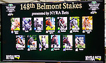 New York, NY - June 08:  Post positions for the Belmont Stakes at Rockefeller Center on JUNE 8, 2016, in New York, NY. (Photo by Sue Kawczynski/Eclipse Sportswire/Getty Images)