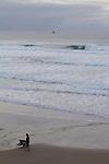 Couple on a beach, Oregon coast, Highway 101, Tillamook County, Oregon, Oregon Coast,