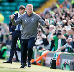 31.03.2019 Celtic v Rangers: Neil Lennon celebrates