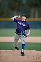 Sam Courtney (59), from Dover, Delaware, while playing for the Rockies during the Baseball Factory Pirate City Christmas Camp & Tournament on December 29, 2017 at Pirate City in Bradenton, Florida.  (Mike Janes/Four Seam Images)