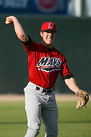 April 19 2009: Jamie McOwen of the High Desert Mavericks before game against the Lancaster JetHawks at Clear Channel Stadium in Lancaster,CA.  Photo by Larry Goren/Four Seam Images