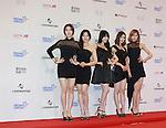DAL SHABET, Jun 07, 2014 : K-pop girl group Dalshabet pose before the Dream Concert in Seoul, South Korea. (Photo by Lee Jae-Won/AFLO) (SOUTH KOREA)