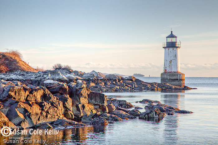 Winter Island Light in Salem, MA, USA