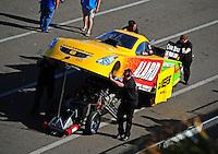 Mar. 12, 2011; Gainesville, FL, USA; NHRA funny car driver Bob Bode during qualifying for the Gatornationals at Gainesville Raceway. Mandatory Credit: Mark J. Rebilas-.