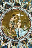 Ravenna: Battistero Neoniano--Baptism of Jesus, 5th century.