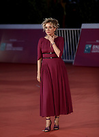 "Italian actress Valeria Golino poses on the red carpet for the screening of the film ""Les Discours"" during the 15th Rome Film Festival (Festa del Cinema di Roma) at the Auditorium Parco della Musica in Rome on October 19, 2020.<br /> UPDATE IMAGES PRESS/Isabella Bonotto"